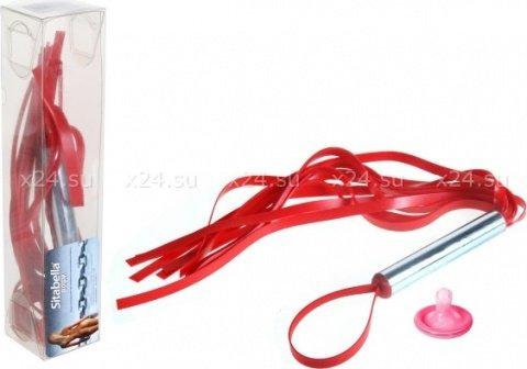 Мини-плеть с лентами (красная)