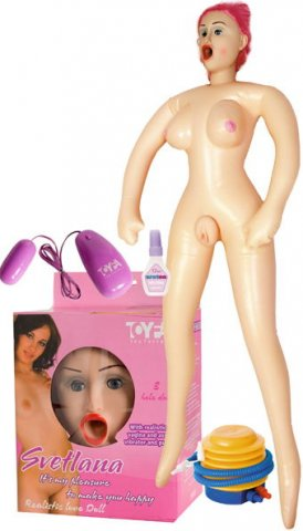 Кукла Светлана(насос + виброяйцо + смазка + ваги, фото 2