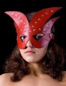 Купить маски на глаза. Маска крас. хром /. Магазин товаров для взрослых.