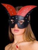 Купить маски на глаза. Маска черно красная хром /. Самый дешевый секс шоп.