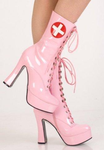 Сапоги розовые медсестра 38 р