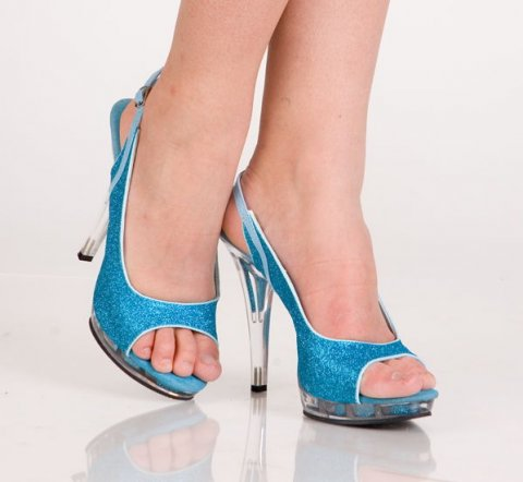 Туфли синие 39 р