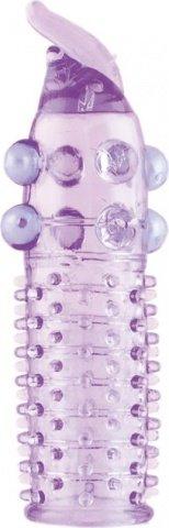 Насадка гелевая с шариками фиолетовая, фото 3