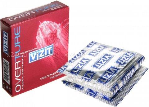 Презервативы vizit overture увеличенного размера, 3 шт