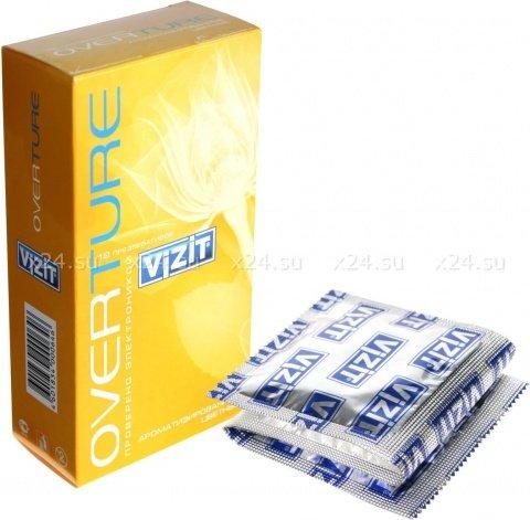 Презервативы vizit overture (мята, банан, клубника), 12 шт