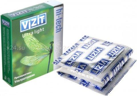 Презервативы vizit hi-tech ultra light ультратонкие, 3 шт