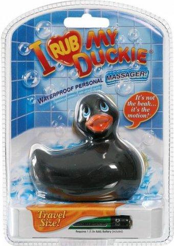 Вибратор утенок I Rub My Duckie travelsize black 10132, фото 3
