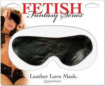 Кожаная маска на глаза Leather Love Mask, фото 3