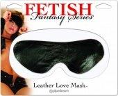 Кожаная маска на глаза | Маски на глаза | Секс-шоп Мир Оргазма