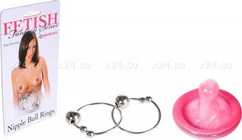 Кольца на соски Bull Rings, серебро, фото 2