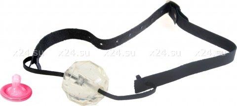 Кляп прозрачный diamond ball gag, фото 3