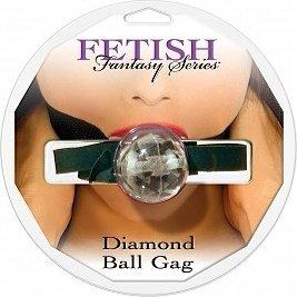 Кляп прозрачный diamond ball gag, фото 4