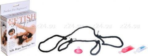 Фиксирующие веревки на руки и ноги Silk Rope Bondage Set