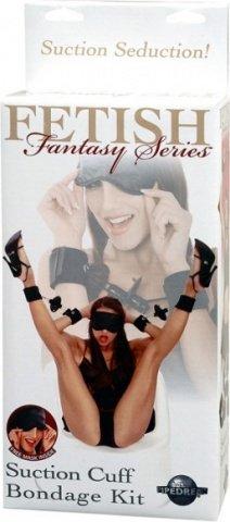 Набор для бондажа: наручники + наножники + фиксация fetish fantasy series, фото 5