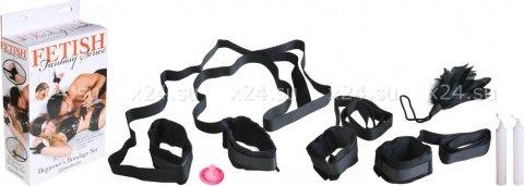 Набор для бондажа (наручники + маска + щекоталка + свечи) Beginner's Bondage Set