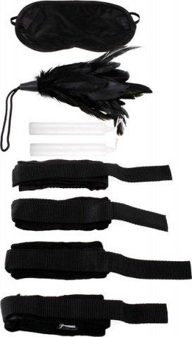Набор для бондажа (наручники + маска + щекоталка + свечи) Beginner's Bondage Set, фото 6