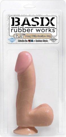 Фаллос на присоске basix 17 см, фото 4