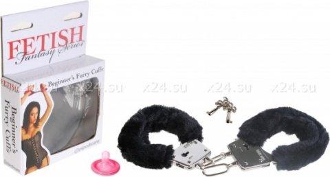 Наручники черные Beginner's Furry Cuffs