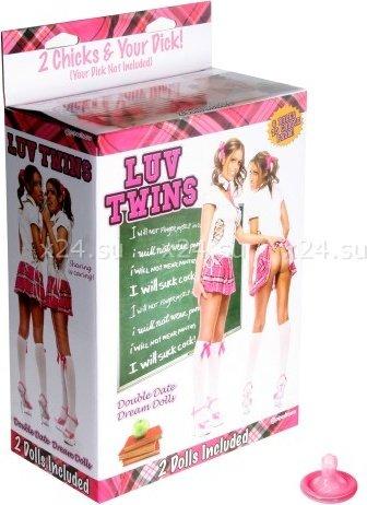 Две надувные куклы школьницы luv twins