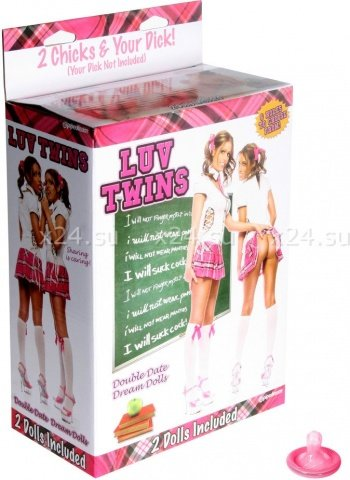 Две надувные куклы школьницы luv twins, фото 2