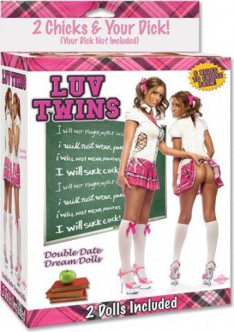 Две надувные куклы школьницы luv twins, фото 5