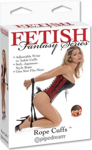 Веревка-фиксация с имитацией наручников и наножников fetish fantasy, фото 3