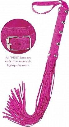 Плеть Deluxe Whip многохвостная розовая