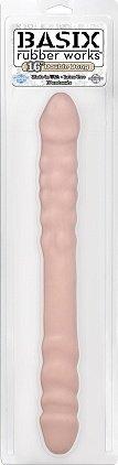 Фаллоимитатор двухсторонний телесный basix 16 40 см