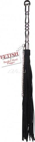 Плетка с металлической ручкой Beaded Metal Flogger