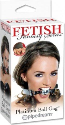 Кляп цвет платиновый fetish fantasy, фото 2