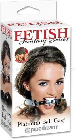 Кляп цвет платиновый fetish fantasy, фото 4