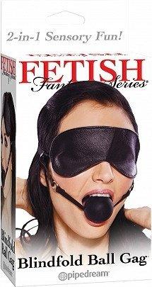 Кляп-шарик на регулируемых ремешках + маска на глаза, фото 3