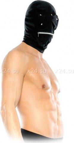 Маска-шлем с отстегивающимися шорами и молнией у рта Zipper Head Hood, фото 2