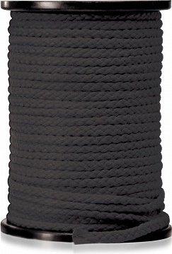 Веревка для связывания черная(диаметр 0,64 см, длина 61 м)
