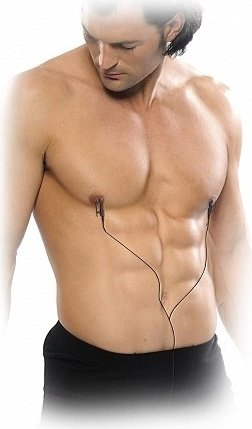 Токопроводящие зажимы на соски shock therapy nipple clamps