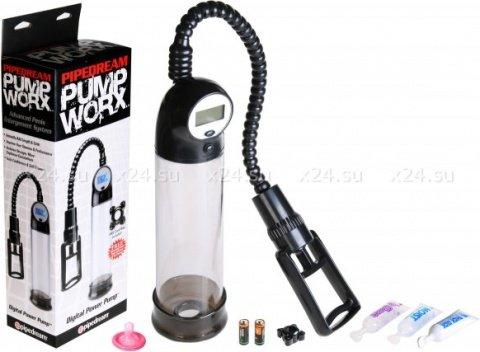Вакуумная помпа с электронным монометром digital power pump