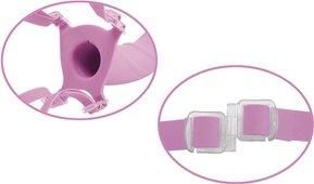 Фаллоимитатор поясной для него и для нее 7 розовый, силикон 18 см, фото 5