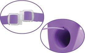 Вибратор поясной для него и для нее 8, 7 режимов вибрации, фиолетовый, силикон 20 см, фото 5