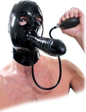 Шлем-маска с фаллосом, увелич. в объеме, ffe 14 см, фото 2
