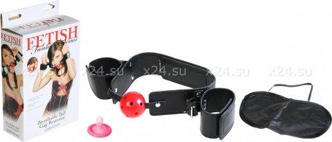 Кляп-наручники Breathable Ball Gag Restraint, фото 2