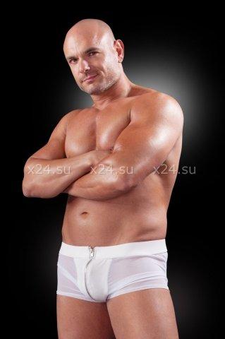 Трусы-боксеры белые на молнии, фото 2