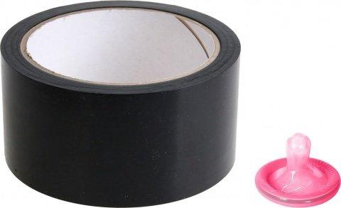 Черный скотч для бондажа Bondage Tape, фото 2