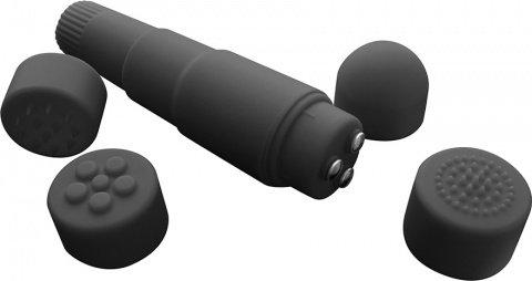 Вибромассажер со сменными насадками Mini-Mite Vibe, фото 3