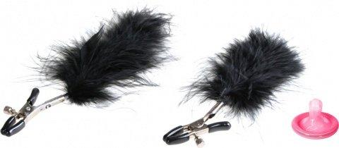 Зажимы на соски с перьями feather nipple clamps
