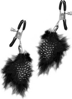 Зажимы на соски с перьями feather nipple clamps, фото 3