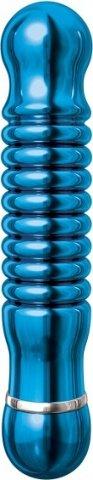 Синий металлический вибратор Pure Aluminium M (3 скорости) 16 см, фото 4