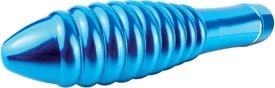 Синий металлический вибратор Pure Aluminium L (3 скорости) 18 см, фото 5