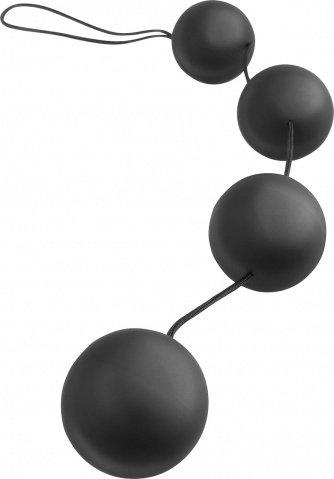 Анальная цепочка из 3 шариков из силикона. диам шаров3,2 см