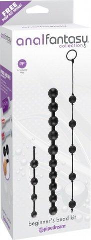 Набор анальных цепочек из 3 различных по длине и диаметру и из силикона, фото 2