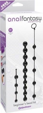 Набор анальных цепочек из 3 различных по длине и диаметру и из силикона, фото 3